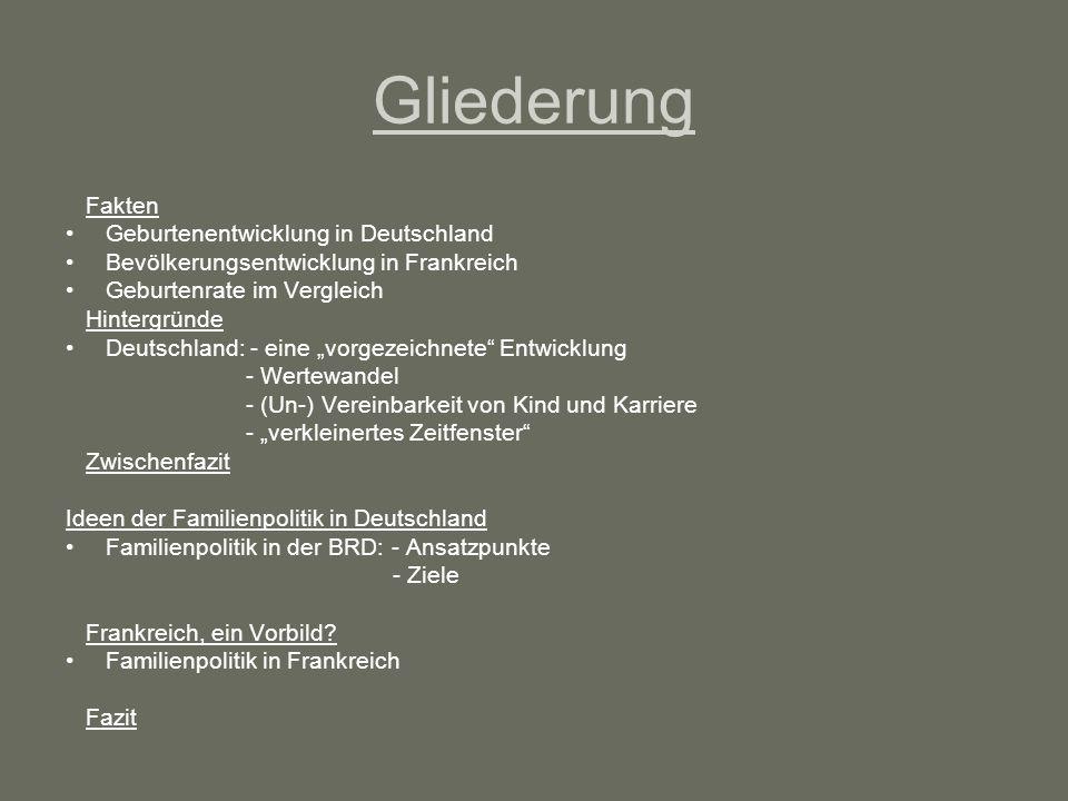 Geburtenentwicklung in Deutschland