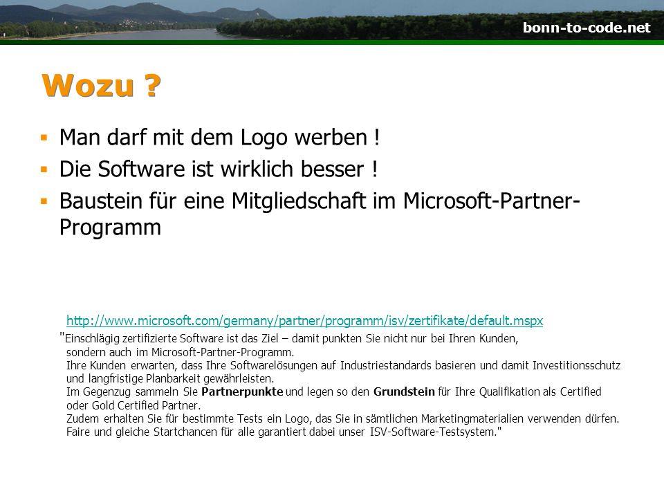 bonn-to-code.net Wozu . Man darf mit dem Logo werben .