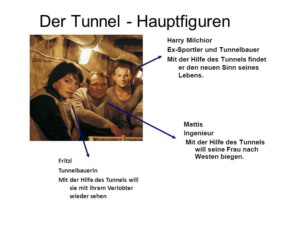 Der Tunnel - Hauptfiguren Harry Milchior Ex-Sportler und Tunnelbauer Mit der Hilfe des Tunnels findet er den neuen Sinn seines Lebens.