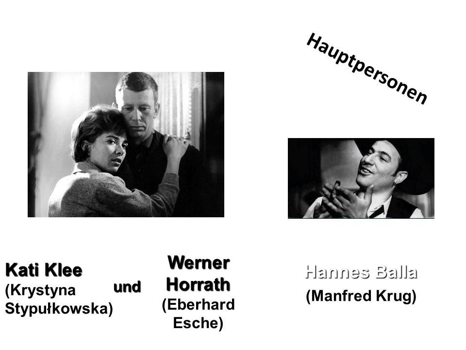 Hannes Balla (Manfred Krug) Kati Klee (Krystyna Stypułkowska) und Werner Horrath (Eberhard Esche) Hauptpersonen