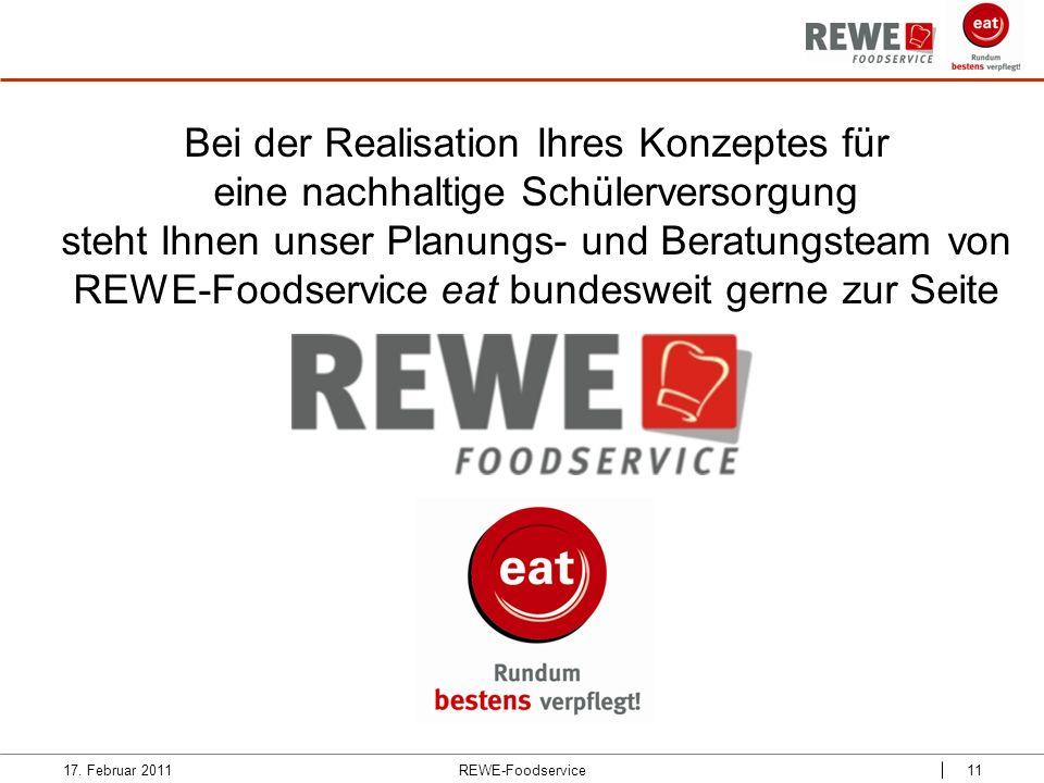 Bei der Realisation Ihres Konzeptes für eine nachhaltige Schülerversorgung steht Ihnen unser Planungs- und Beratungsteam von REWE-Foodservice eat bund