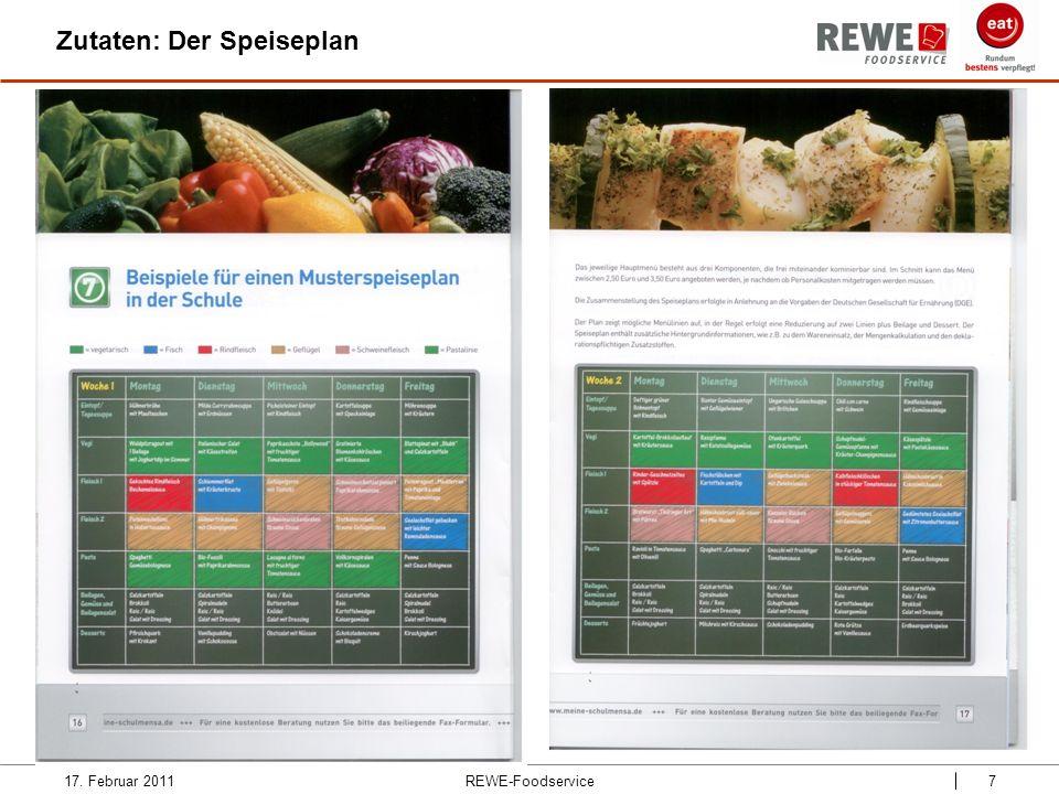 REWE-Foodservice8 Zutaten: Inhalte und Konzept 17.