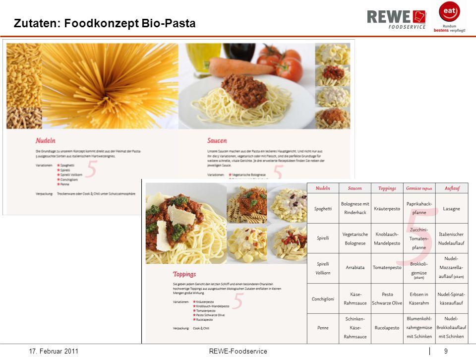 REWE-Foodservice9 Zutaten: Foodkonzept Bio-Pasta 17. Februar 2011