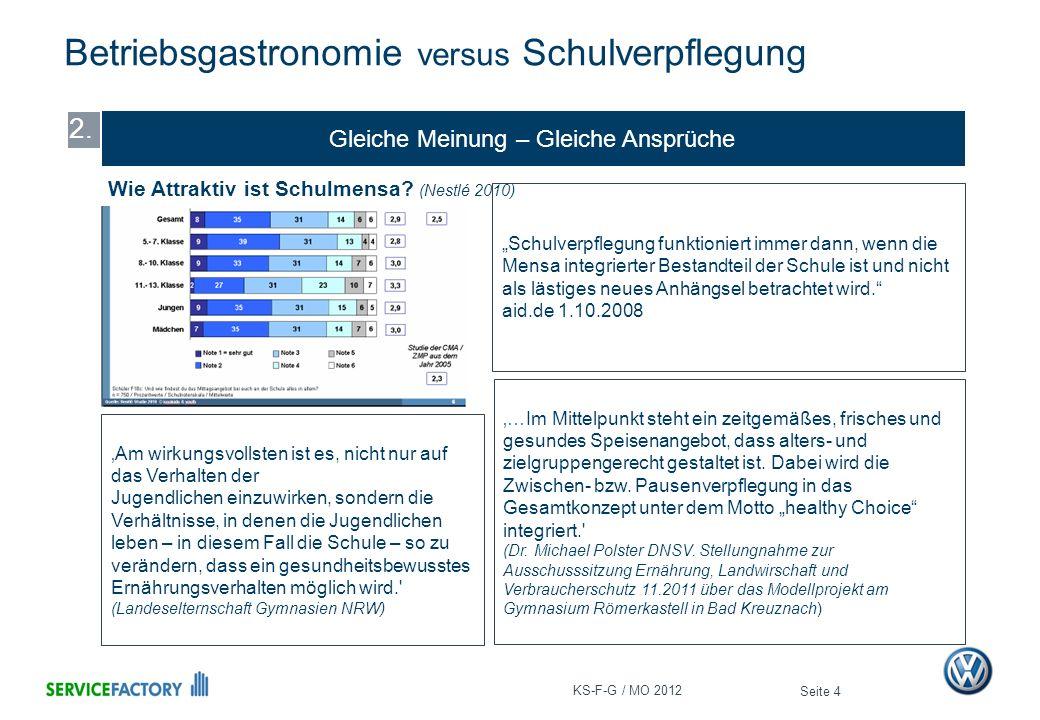 Der Unterschied Betriebsgastronomie versus Schulverpflegung Seite 5 3.