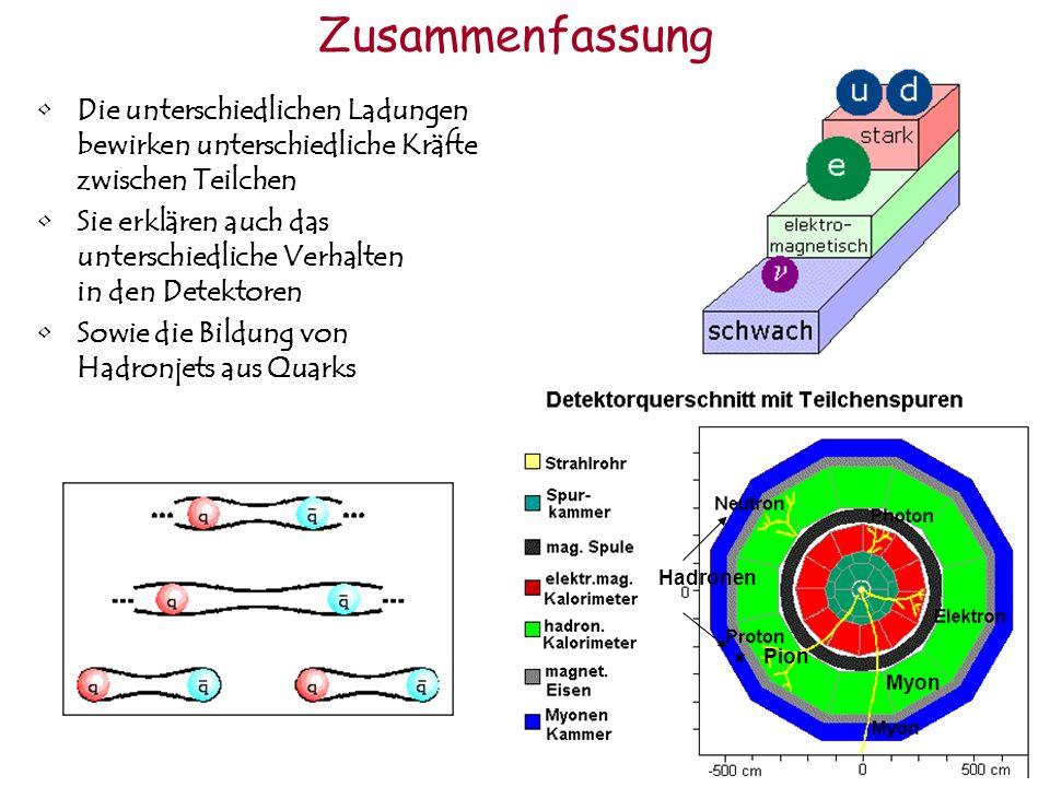 Zusammenfassung Die unterschiedlichen Ladungen bewirken unterschiedliche Kräfte zwischen Teilchen Sie erklären auch das unterschiedliche Verhalten in