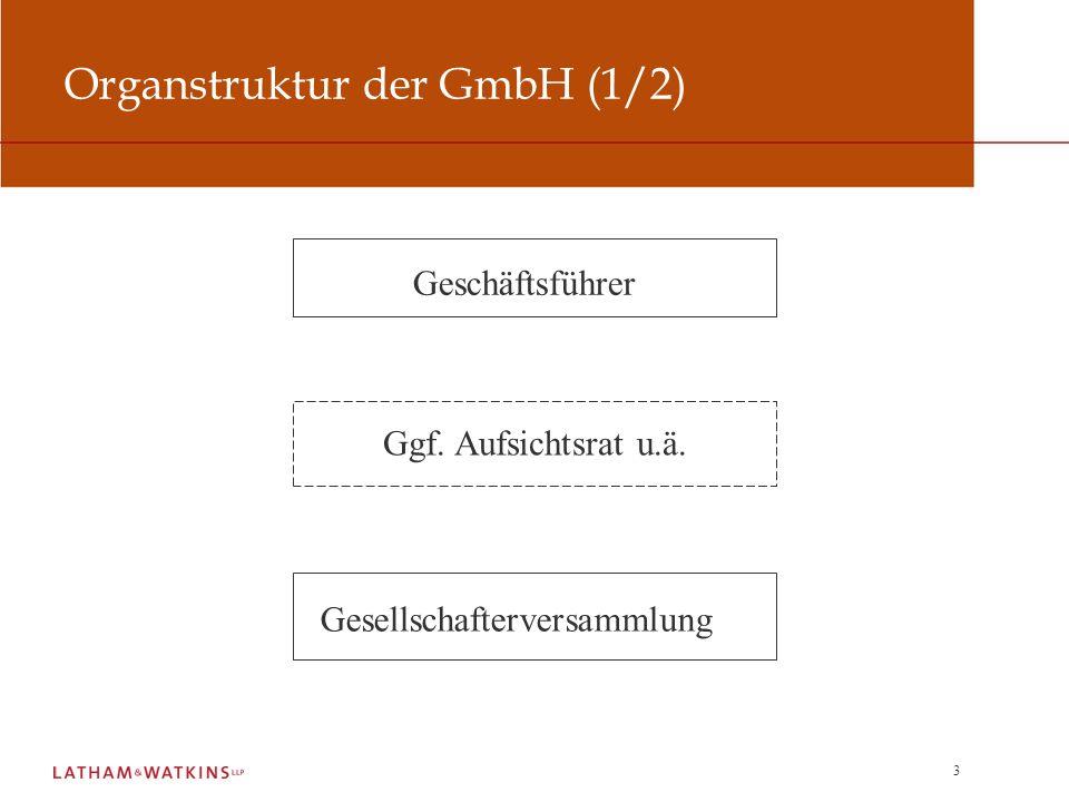 14 Haftung des Geschäftsführers einer Tochter- GmbH Spannungsverhältnis zur Weisungsgebundenheit Darlehen an Gesellschafter und Cash-Pooling Sicherheitenbestellung für Gesellschafterverbindlichkeiten