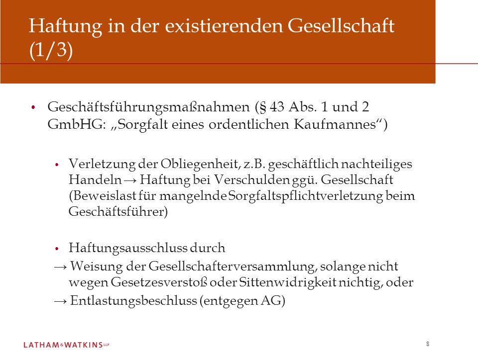 19 Sicherheiten für Gesellschafterverbindlichkeiten (2/2) Lösung: Limitation Language im Sicherungsvertrag.