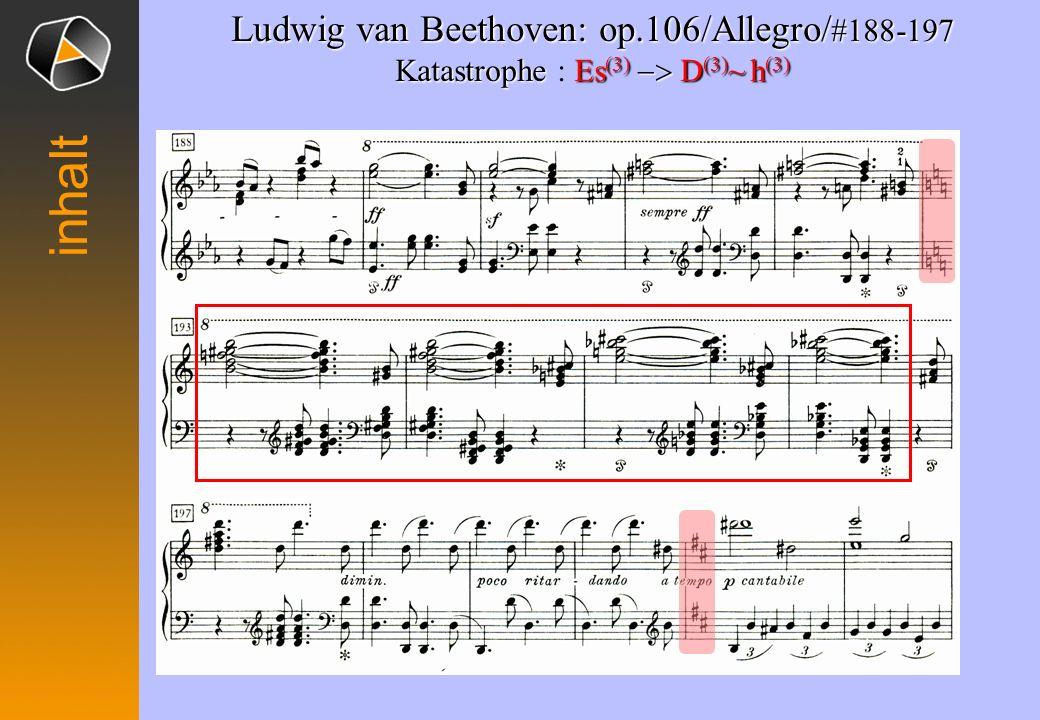 Ludwig van Beethoven: op.106/Allegro/ #124-127 Umkehr des G (3) Es (3) Umkehr des : G (3) Es (3)desgg #124 - 125 #126 - 127 inhalt