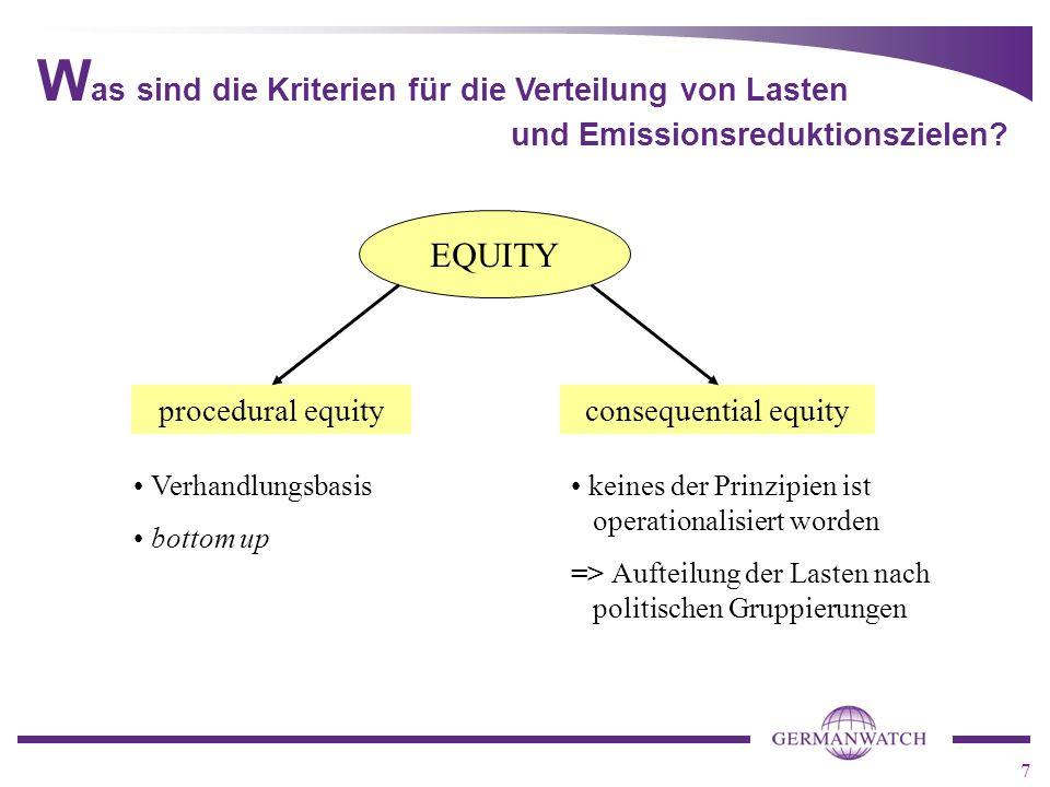 7 W as sind die Kriterien für die Verteilung von Lasten und Emissionsreduktionszielen.