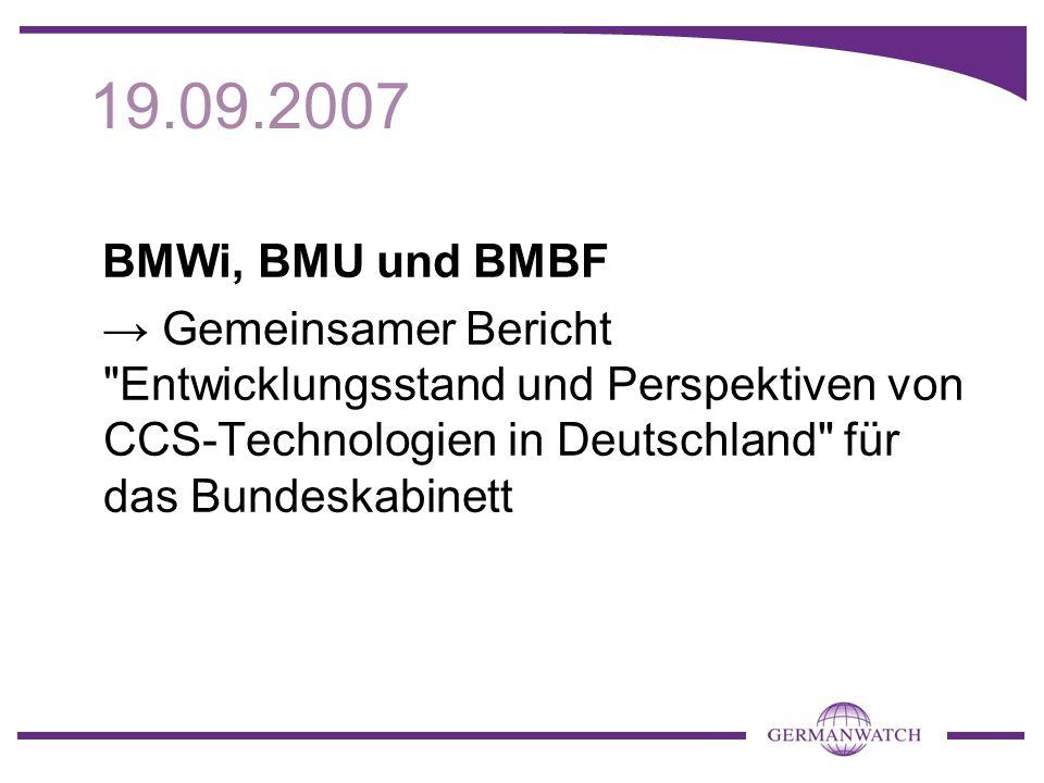 Weitere Informationen im Hintergrundpapier: www.germanwatch.org/klima/ccs-deu10 Impressum: Herausgeber: Germanwatch e.V.