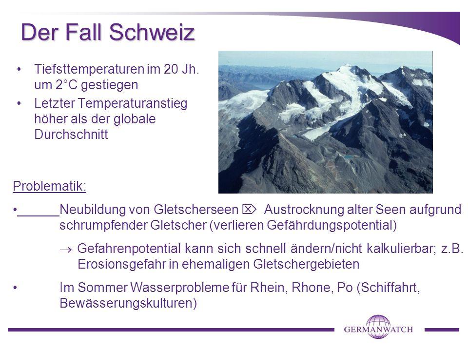 Der Fall Schweiz Tiefsttemperaturen im 20 Jh.