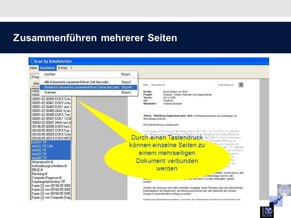 Zuordnung zur Phantasy-Akte Die Zuordnung des gescannten Dokuments erfolgt über die bekannten Phantasy-Dialoge.