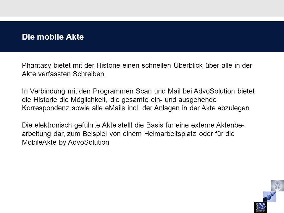 Arbeitsablauf Mobile Akte by AdvoSolution Die Änderungen können entweder im Original gespeichert werden oder als Version des ursprünglichen Dokuments.