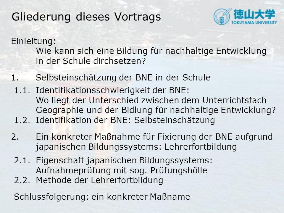 2.Ein konkreter Maßnahme für Fixierung der BNE 2.