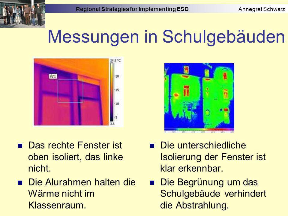 Regional Strategies for Implementing ESD Annegret Schwarz Schulen mit BNE-Profil 5.