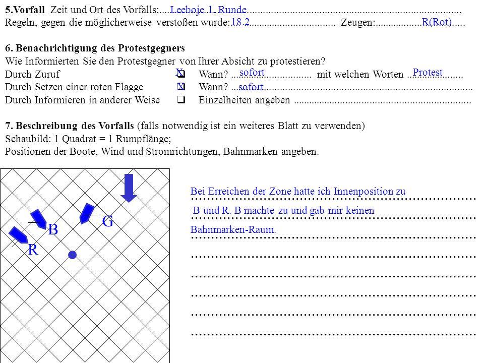 PROTESTFORMULAR- auch für Anträge auf Wiedergutmachung und Wiederaufnahme Ausfüllen und das Passende ankreuzen Eingereicht im Wettfahrtbüro: Nummer __