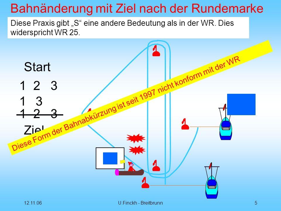 12.11.06U.Finckh - Breitbrunn5 Bahnänderung mit Ziel nach der Rundemarke Start 12 3 1 3 1 Ziel Diese Praxis gibt S eine andere Bedeutung als in der WR.