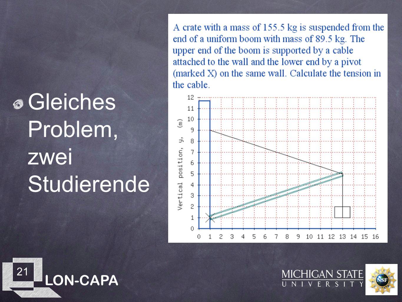 LON-CAPA 21 Gleiches Problem, zwei Studierende