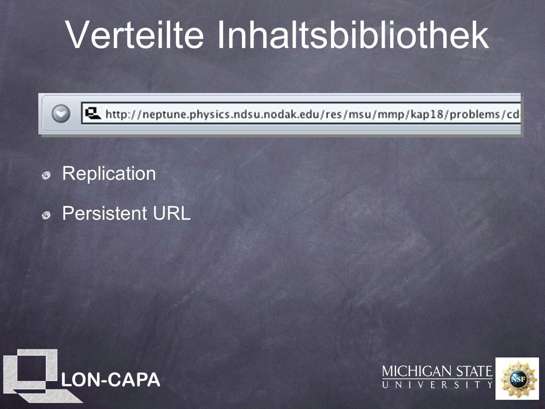 LON-CAPA Verteilte Inhaltsbibliothek Replication Persistent URL
