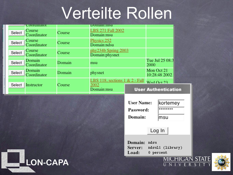LON-CAPA Verteilte Rollen