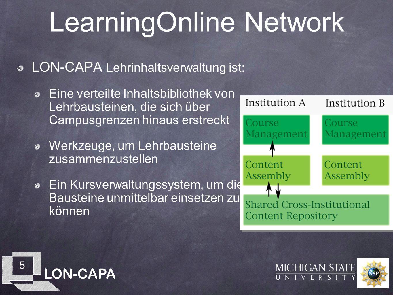 LON-CAPA 26 Hausübungen gegenüber Klausuren