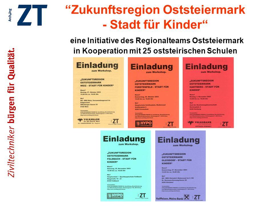 Zukunftsregion Oststeiermark - Stadt für Kinder eine Initiative des Regionalteams Oststeiermark in Kooperation mit 25 oststeirischen Schulen