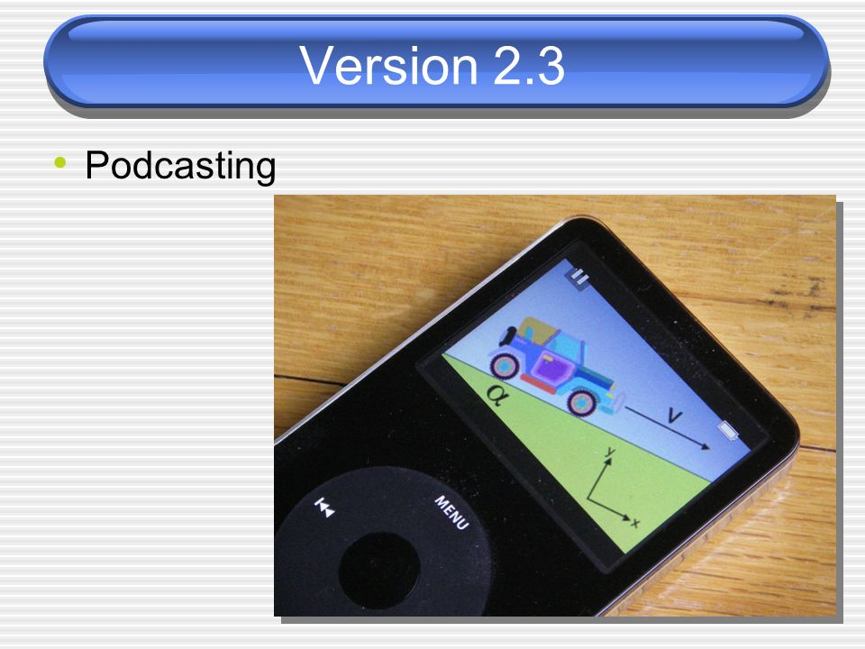 Version 2.3 Podcasting