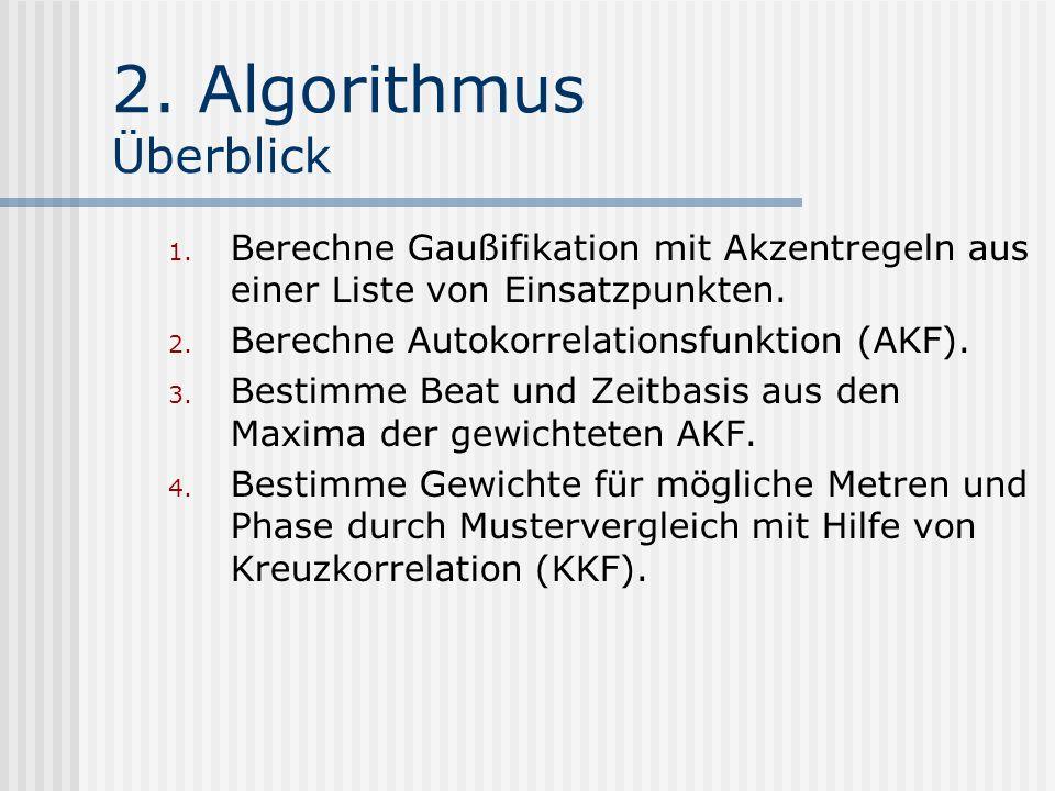 2. Algorithmus Überblick 1.