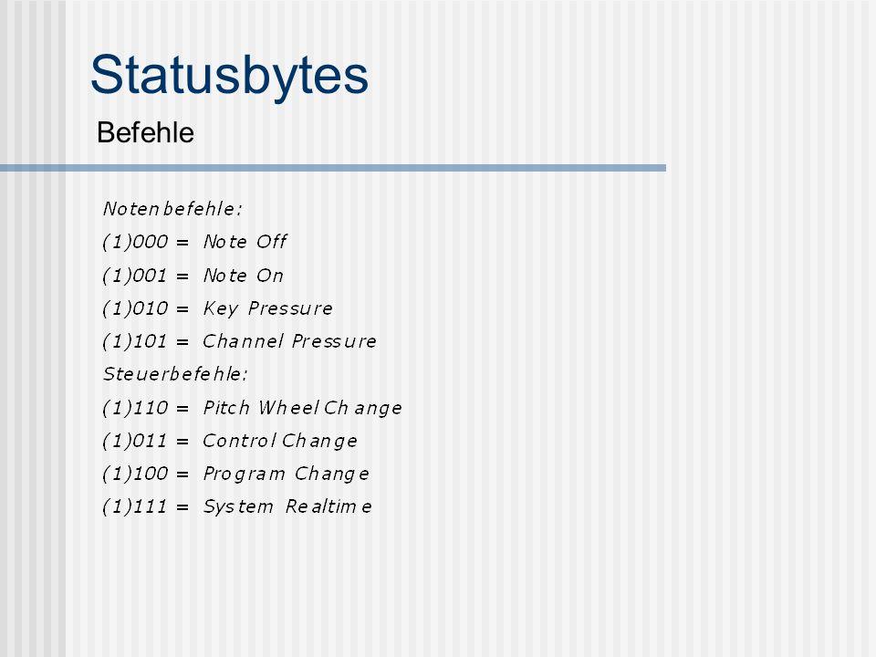 Statusbytes Befehle