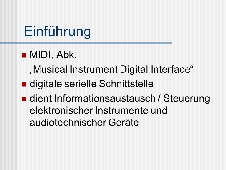 Einführung MIDI, Abk.