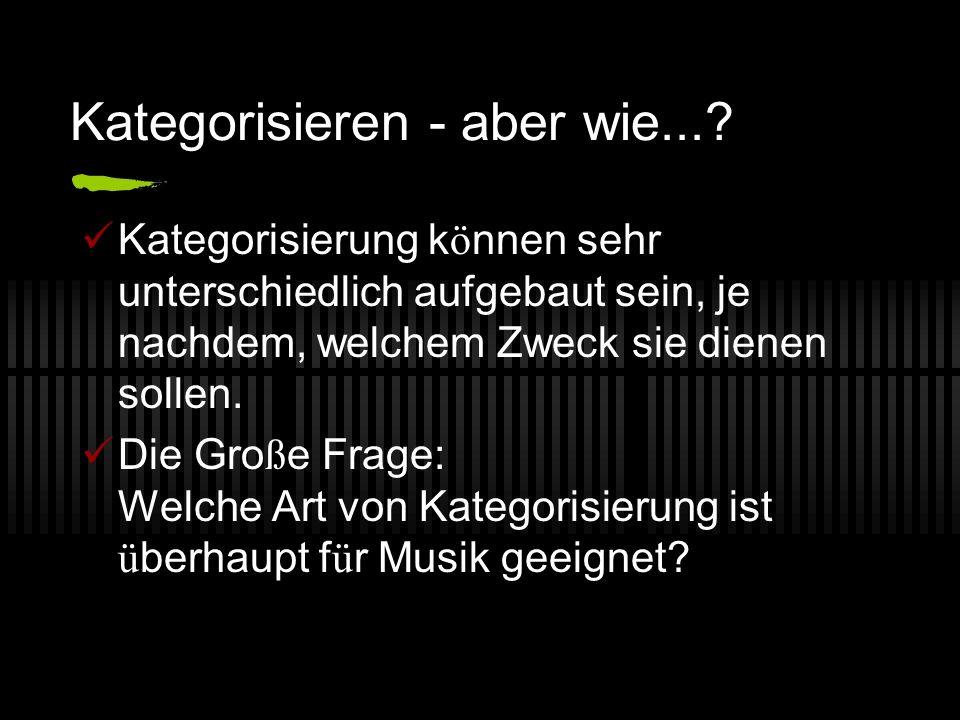 Genre - Ein historischer R ü ckblick Nach Aristoteles: Die Funktion einer Sache definiert ihre Genre.