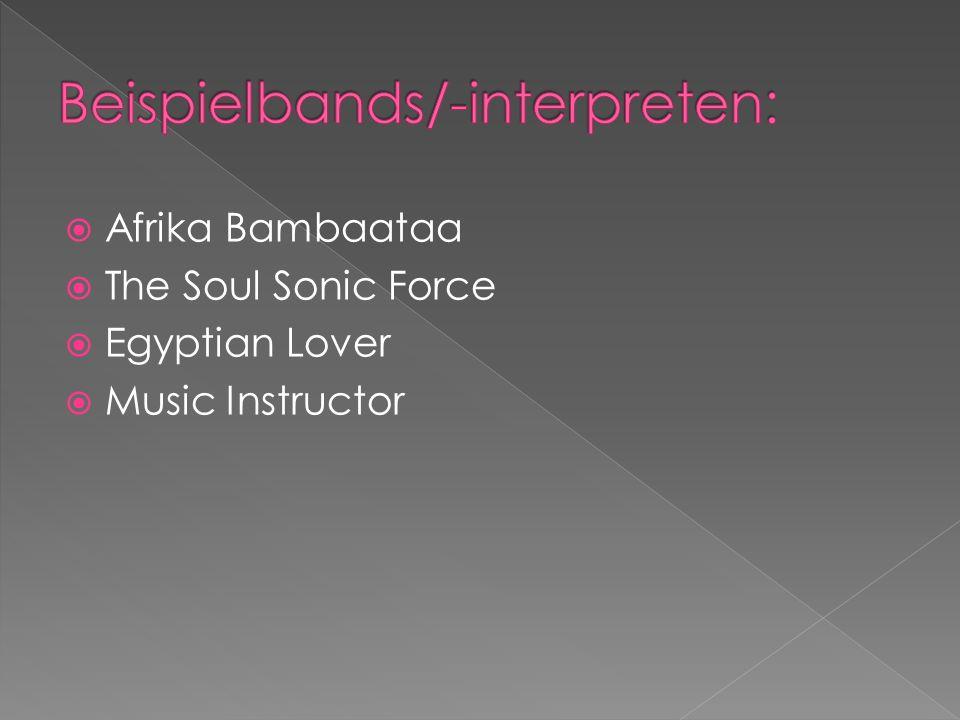 Afrika Bambaataa The Soul Sonic Force Egyptian Lover Music Instructor
