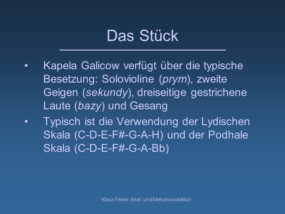 Klaus Frieler: Beat- und Metrumsinduktion Podhale