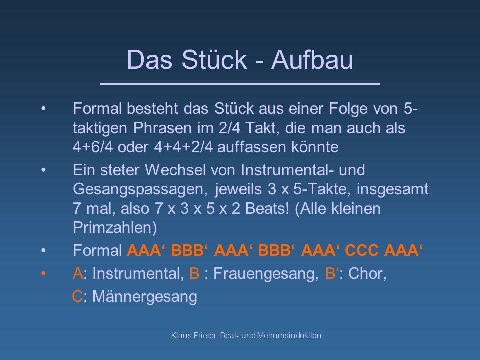 Klaus Frieler: Beat- und Metrumsinduktion Das Stück Kapela Galicow verfügt über die typische Besetzung: Solovioline (prym), zweite Geigen (sekundy), dreiseitige gestrichene Laute (bazy) und Gesang Typisch ist die Verwendung der Lydischen Skala (C-D-E-F#-G-A-H) und der Podhale Skala (C-D-E-F#-G-A-Bb)