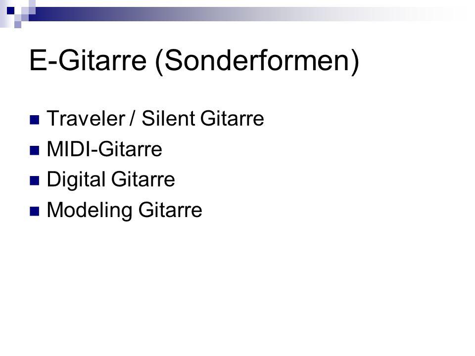 E-Gitarre (Sonderformen) Traveler / Silent Gitarre MIDI-Gitarre Digital Gitarre Modeling Gitarre