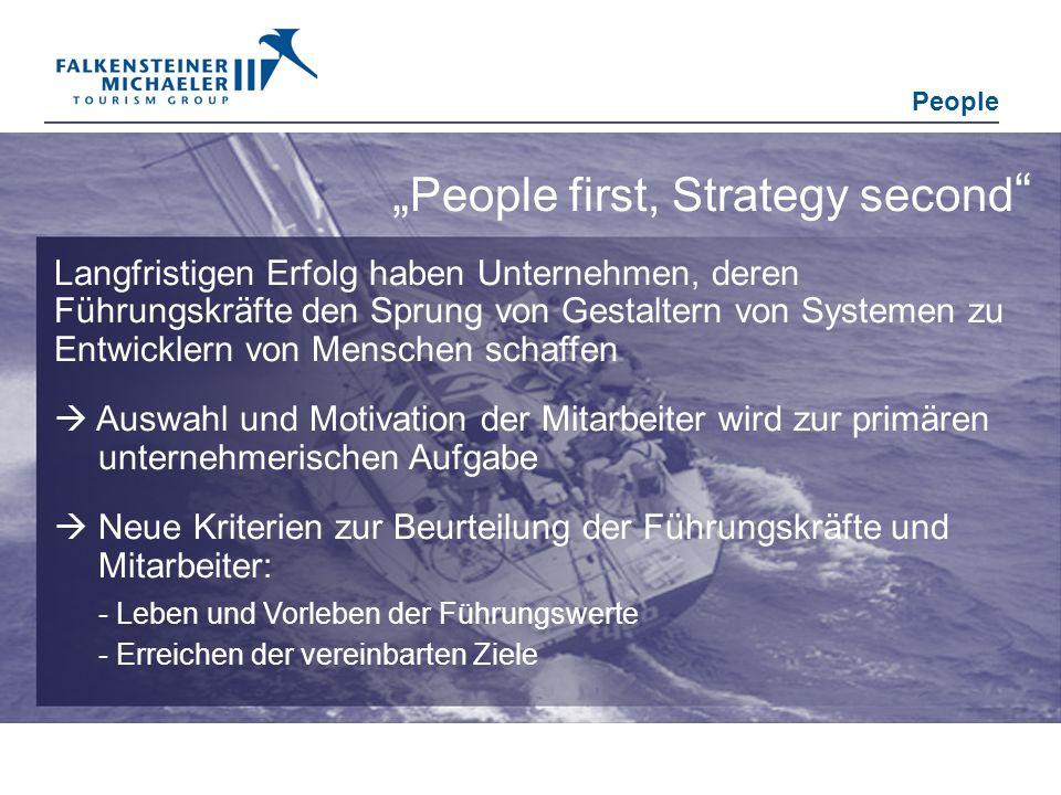 People first, Strategy second Langfristigen Erfolg haben Unternehmen, deren Führungskräfte den Sprung von Gestaltern von Systemen zu Entwicklern von M