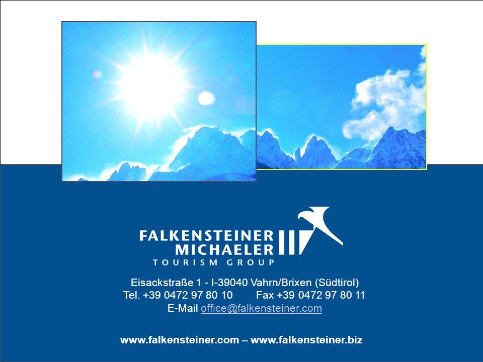 Eisackstraße 1 - I-39040 Vahrn/Brixen (Südtirol) Tel. +39 0472 97 80 10Fax +39 0472 97 80 11 E-Mail office@falkensteiner.comoffice@falkensteiner.com w