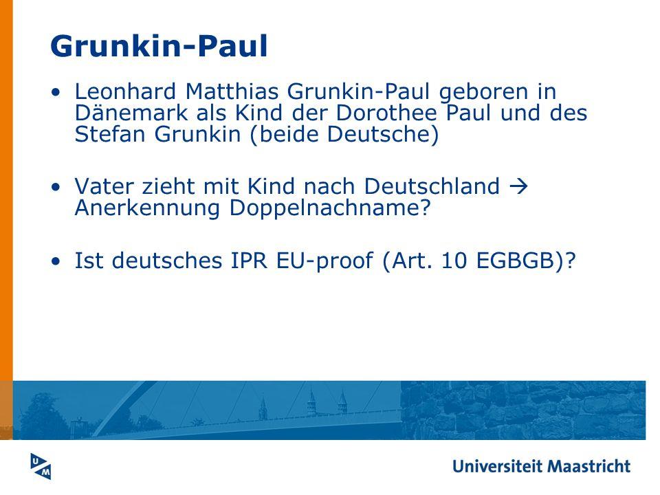 Grunkin-Paul Leonhard Matthias Grunkin-Paul geboren in Dänemark als Kind der Dorothee Paul und des Stefan Grunkin (beide Deutsche) Vater zieht mit Kin