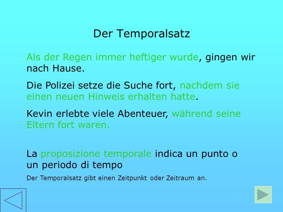 Temporali Temporali Temporali Causali Causali Causali Finali Finali Finali Concessive Concessive Concessive Consecutive Consecutive Consecutive Condiz