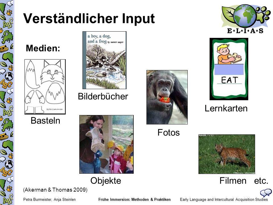 Early Language and Intercultural Acquisition Studies Petra Burmeister, Anja Steinlen Frühe Immersion: Methoden & Praktiken Ausgewählte Quellen Tardif, C.