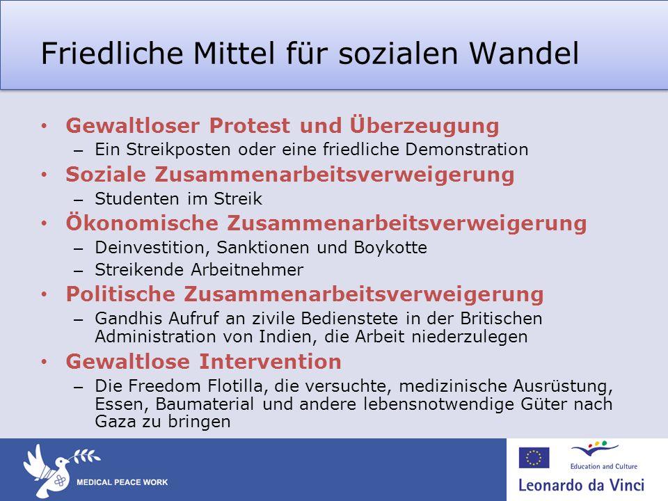Friedliche Mittel für sozialen Wandel Gewaltloser Protest und Überzeugung – Ein Streikposten oder eine friedliche Demonstration Soziale Zusammenarbeit