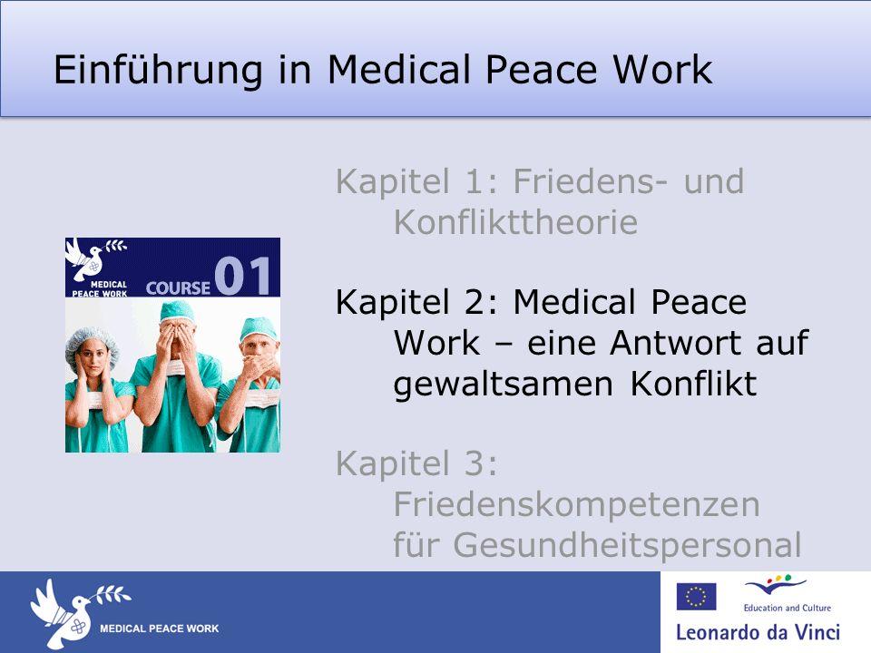 Einführung in Medical Peace Work Kapitel 1: Friedens- und Konflikttheorie Kapitel 2: Medical Peace Work – eine Antwort auf gewaltsamen Konflikt Kapite