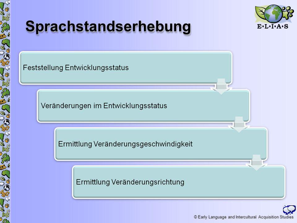 E L I A S © Early Language and Intercultural Acquisition Studies SprachstandserhebungSprachstandserhebung 21