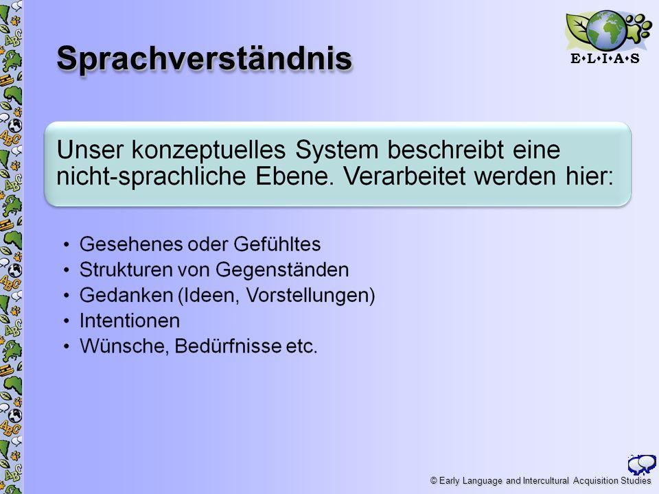 E L I A S © Early Language and Intercultural Acquisition Studies SprachverständnisSprachverständnis 9