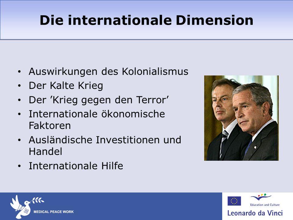 Die internationale Dimension Auswirkungen des Kolonialismus Der Kalte Krieg Der Krieg gegen den Terror Internationale ökonomische Faktoren Ausländisch