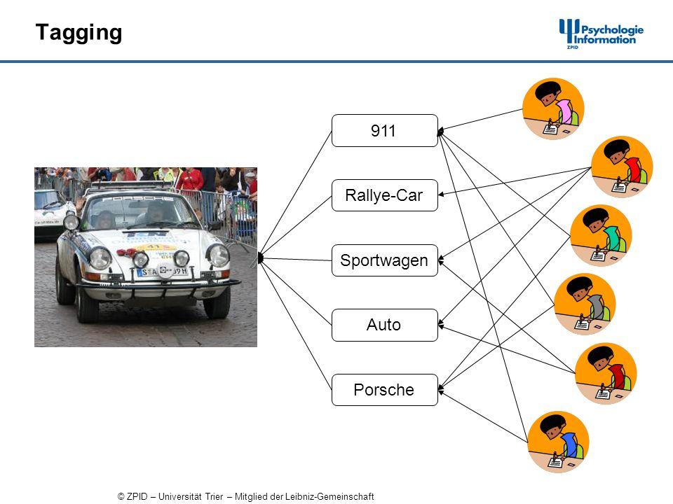 © ZPID – Universität Trier – Mitglied der Leibniz-Gemeinschaft Tagging 911 Rallye-Car Sportwagen Auto Porsche