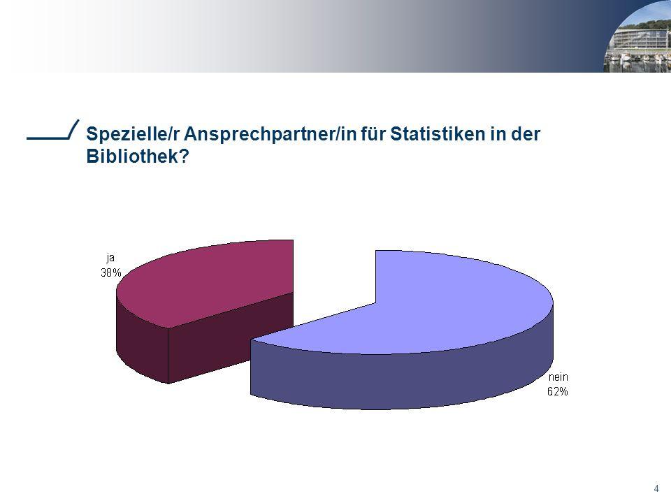 4 Spezielle/r Ansprechpartner/in für Statistiken in der Bibliothek?