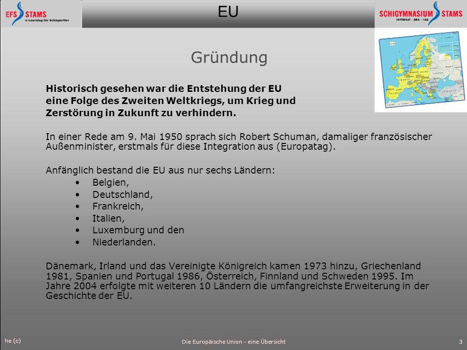 EU he (c) Die Europäische Union - eine Übersicht4