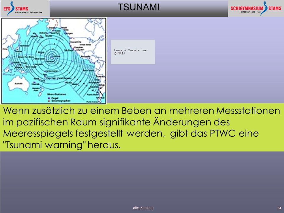 TSUNAMI aktuell 200524 Wenn zusätzlich zu einem Beben an mehreren Messstationen im pazifischen Raum signifikante Änderungen des Meeresspiegels festges