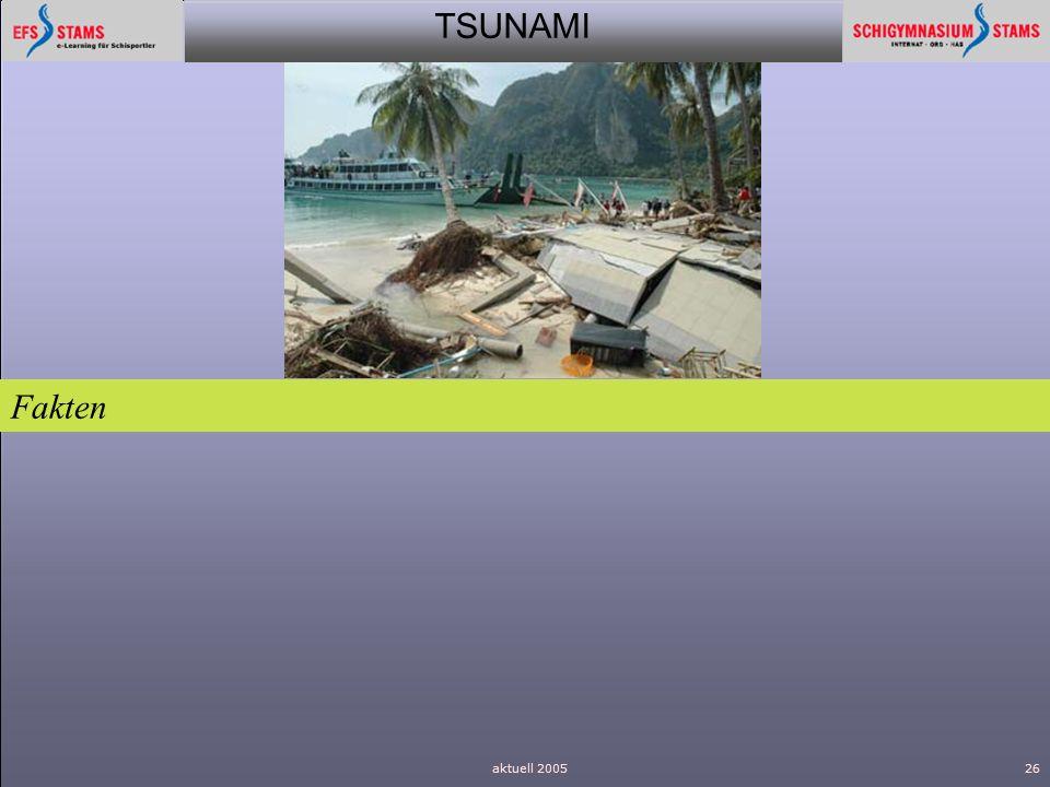 TSUNAMI aktuell 200526 Fakten